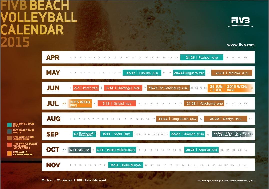 FIVB 2015 Calendar