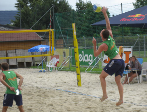 Martin ROHRER throws down three aces in a row in his second round match - A Cup Wolfsberg Austria 2009